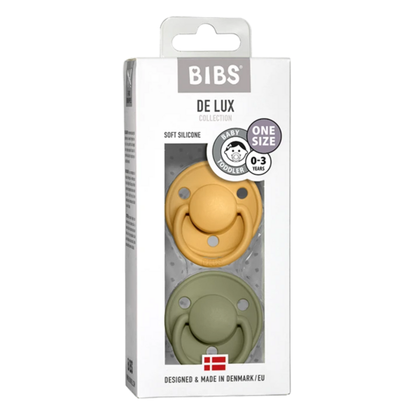 Honey Bee & Olive Silicone - Bibs de Lux (0-36m)